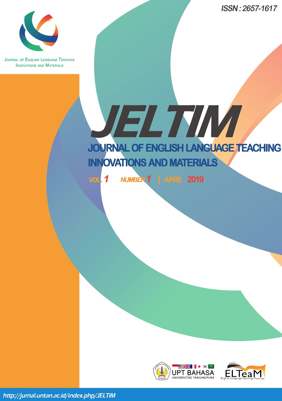 Journal of English Language Teaching Innovations and Materials (JELTIM)